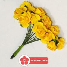 Бумажная роза 12 голов