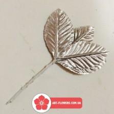 Лист серебро